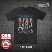 kaos Ramones t shirt polos distro band murah combed 30s pria wanita