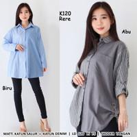 Kemeja Corak Jumbo K120 Baju Atasan Wanita