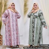 Silvana dress jumbo/dress jumbo/baju muslim jumbo