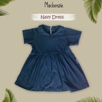 Baju Anak Perempuan Dress Tunik Atasan Anak Wanita - navy, S