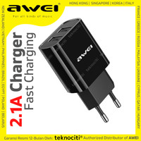 AWEI Fast Charging Dual USB Charger Adaptor 5V/2.1A