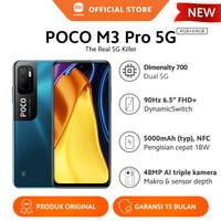 Xiaomi Mi POCO M3 Pro 5G 4/64GB NFC Triple Kamera Layar Smartphone hp
