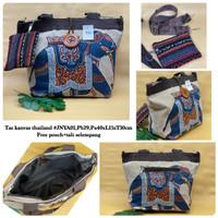 PROMO TOTEBAG/TAS KANVAS THAILAND TENUN bisa selempang & free pouch
