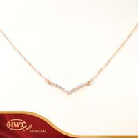 Kalung Emas HWT GOLD - KLK060 - 17K - Rose Gold