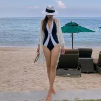 Baju Renang One Piece Model Perut Tertutup Gaya Seksi Untuk Wanita 800 - Navy, M
