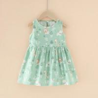 dress anak perempuan import green lion /baju anak perempuan printed