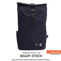 Tas Backpack Ransel JFK Rolltop Snake Black V1.0 Anti air / Warranty