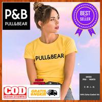 Baju Kaos Pull Bear Logo PNB Non Original Wanita Pria Warna Kuning