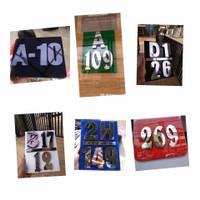 nomor rumah angka huruf Stainles