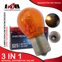 S25 Autovision Amber Lampu Bohlam Sen Senja Mobil 12V 25W Universal