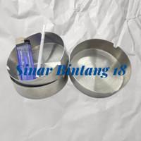 Asbak Bulat Stainless 10 cm