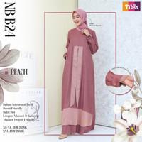 Sale Baju Gamis ORI Nibras NB B24 - Peach, XS