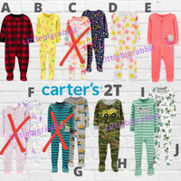 Sleepsuit Carters - Piyama Anak Cowok Cewek Branded - Baju Tidur 2T