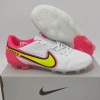 Sepatu Bola Nike Tiempo Legend9 White Pink Fg