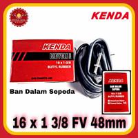 KENDA 16 x 1 3/8 FV 48mm Ban Dalam Sepeda 16 Balap 16 plus