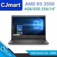 LAPTOP Dell Vostro 3405 (R5-3500/4GB/SSD 256/14/Win.10/OHS) RESMI - 4 gb