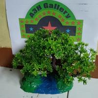 bonsai sintetis aquascape batu