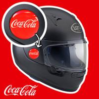 COCA COLA EMBLEM STIKER TIMBUL LENTUR STIKER MOTOR STIKER IMPORT