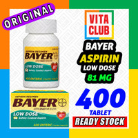 Bayer Aspirin 81 mg 400 tablet LOW DOSE 81mg pain reliever heart