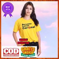 Kaos Baju Corona Virus Covid 19 Pria Wanita Warna Kuning Size S M L XL - Kuning, S