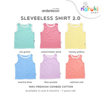 Ardenleon Sleeveless Shirt Baby Kids Arden Leon Baju Kutung Anak Bayi - Ice Green, S