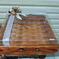 kotak bambu keranjang - box kue seserahan - anyaman+PITA uk.30x30