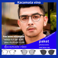 kacamata minus anti radiasi photocromic // blue-ray - coklat, anti radiasi