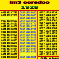 nomor cantik Indosat IM3 OoredoO tahun 1928 murah