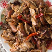 Daging Ayam Asap / Sei Ayam Kembo 500 Gram + Sambal 50 gram