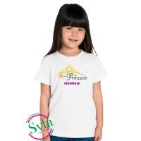 baju anak perempuan/kaos anak/princes/pakayan anak perempuan - Putih, S