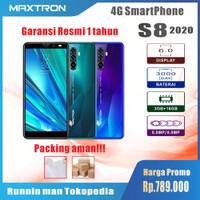 Maxtron S8 2020 RAM 3GB/16GB 4G SmartPhone Android Garansi Resmi 1 Tah