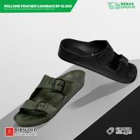 Sandal / Slipper Walker Ribsgold (GROSIR MIN 4 PCS) - Hitam, 40