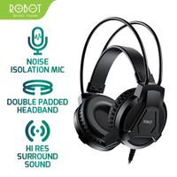 Headphone Gaming ROBOT RH-P10 Headset Double Jack Audio With Mic