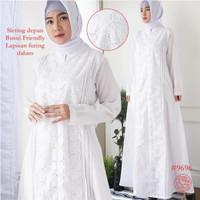 Gamis Putih Katun JUMBO/Baju Haji/Gamis Ihrom/Perlengkapan Haji #9696