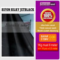 Kain Sifon Silky Jetblack / Chiffon Silky Jetblack / Silky Chiffone