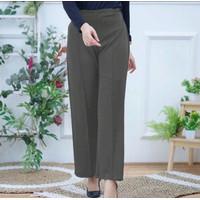 Celana Wanita Kulot Bahan Scuba Premium Great A Tebal tidak Trawang - Hitam, All Size
