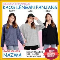 Baju Kaos Atasan Wanita Longsleeve Lengan Panjang Polos Spandex NAZWA