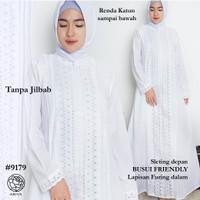 Gamis Putih Katun JUMBO /Baju Haji/Gamis Ihrom/Perlengkapan Haji #9180