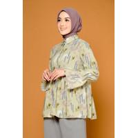 ZM - Cacia Olive Blouse - Jelita Indonesia - Edisi Cendrawasih