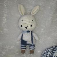 boneka amigurumi handmade rajut bunny boy real foto