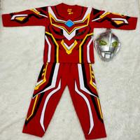 stelan baju panjang kostum anak laki-laki robot super hero ultraman