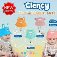 Clency Faceshield Baby & Clency Topi Face Shield Baby