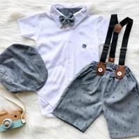 Setelan Jumper celana dasi anak bayi lakilaki/Set baju pergi bayi laki