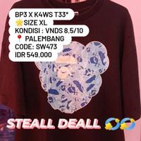 BAPE X KAWS TEE * Size XL Kondisi : VNDS 8.5/10