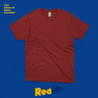 Reatic Kaos Polos Premium Ultrasoft Cotton Modal - Merah Maroon