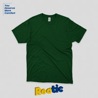 Reatic Kaos Polos Oblong Cotton Premium Soft - Hijau Botol