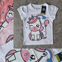 Kaos Oblong T-Shirt anak perempuan gambar UNICORN