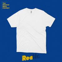 Reatic Kaos Polos Premium Ultrasoft Cotton Modal - Putih