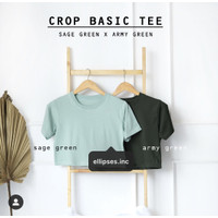 Ellipsesinc - Basic Crop Top Lengan Pendek