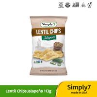 Simply7 Lentil Chips Jalapeno 113gr